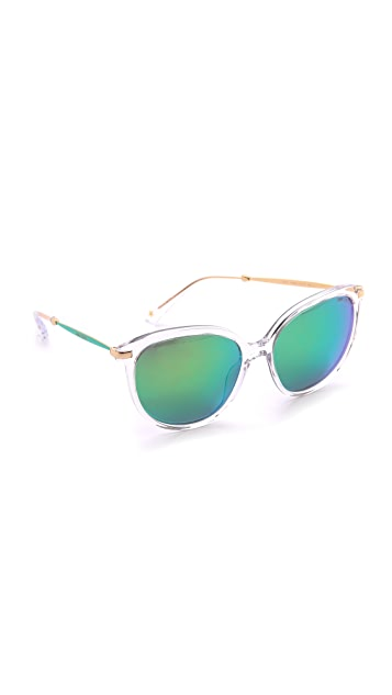 Jimmy Choo Ives Mirrored Sunglasses
