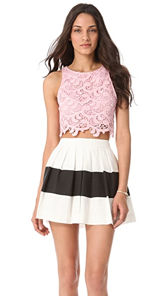 Joy Cioci Samara Lace Crop Top
