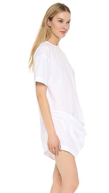 Jacquemus Gathered Asymmetrical Shirt Dress