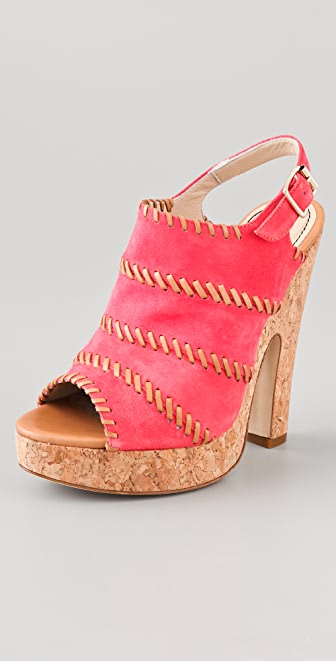 Jerome C. Rousseau Niro Suede High Heel Sandals