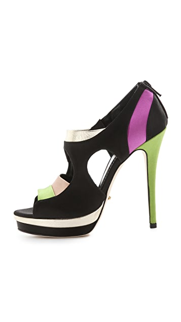 Jerome C. Rousseau Simkes Colorblock Sandals