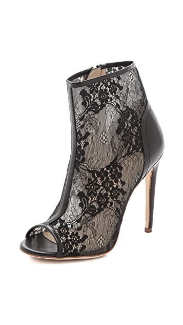 Jerome C. Rousseau Juda Lace Open Toe Booties