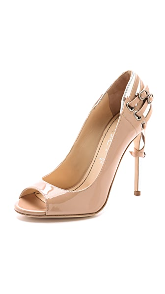 Jerome C. Rousseau Lover Open Toe Pumps