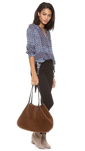 Jerome Dreyfuss Loic Elaphe A Pois Shopping Bag