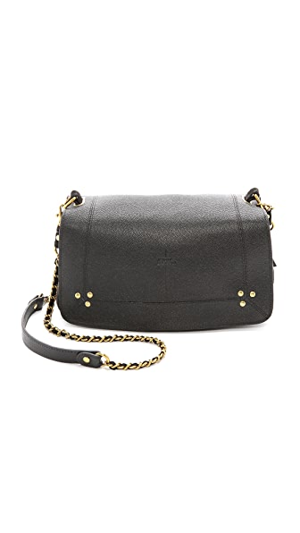 Jerome Dreyfuss Bobi Caviar Noir and Noir Velvet Cross Body Bag