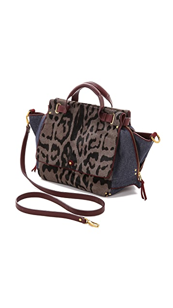 Jerome Dreyfuss Johan Caviar Leopard Haircalf Bag