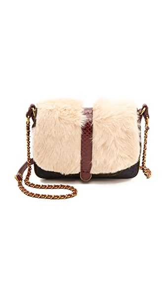 Jerome Dreyfuss Jojo Blanc Rabbit Fur Bag