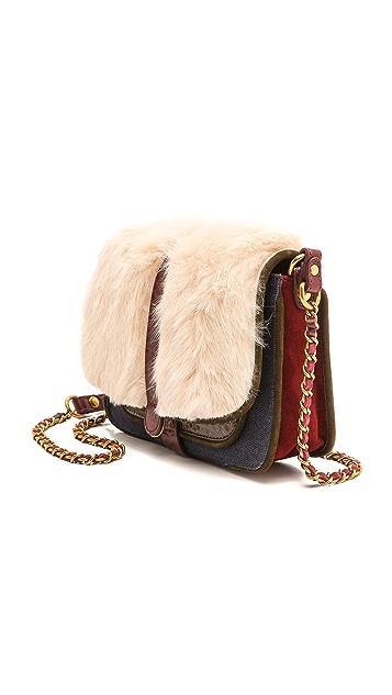 Jerome Dreyfuss Jojo Blanc Rabbit Fur Bag