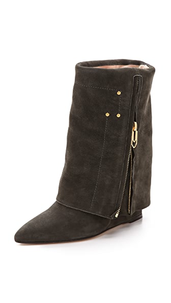 Jerome Dreyfuss Biboots Foldover Wedge Boots