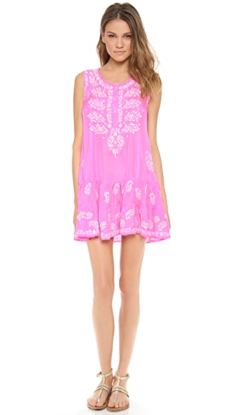 Juliet Dunn Silk Sleeveless Cover Up Dress