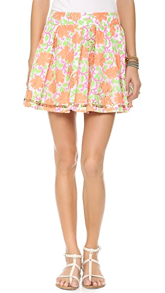 Juliet Dunn Floral Bubble Skirt