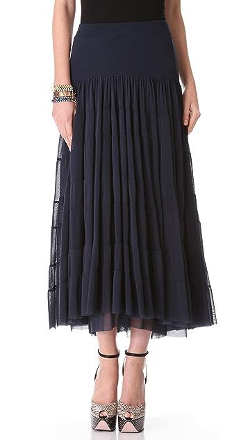 Jean Paul Gaultier Long Navy Skirt