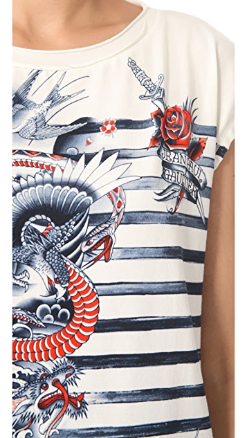 Jean Paul Gaultier Printed Top