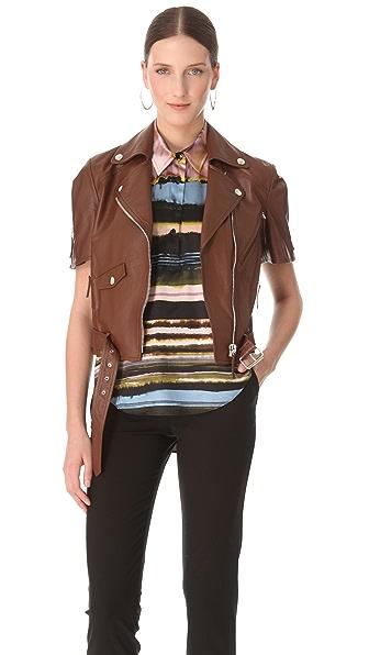 Jean Paul Gaultier Short Sleeve Leather Jacket