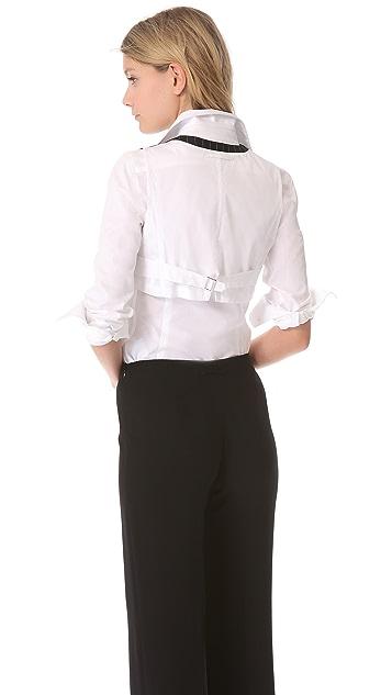 Jean Paul Gaultier Wool Cropped Vest