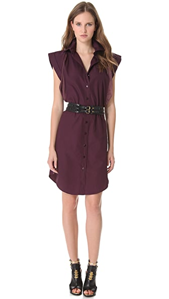 Jean Paul Gaultier Poplin Short Sleeve Dress