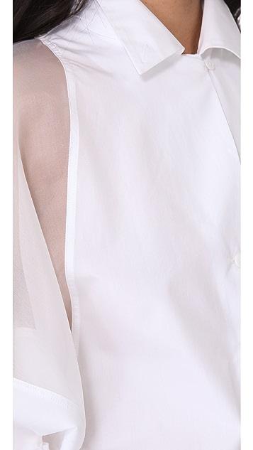 Jean Paul Gaultier Short Sleeve Poplin Top