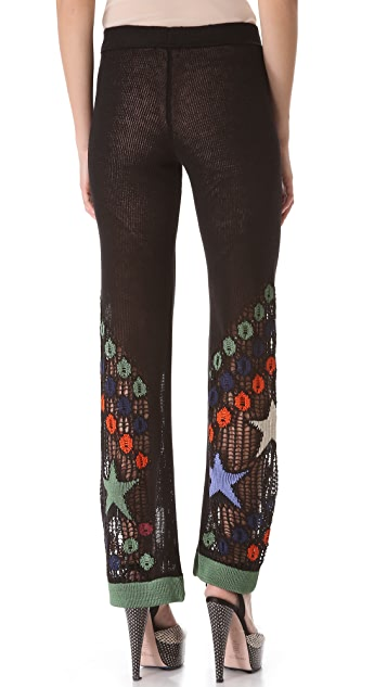 Jean Paul Gaultier Star Embroidered Pants
