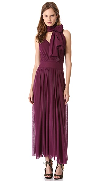 Jean Paul Gaultier Neck Tie Maxi Dress