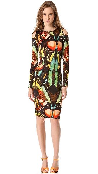 Jean Paul Gaultier Long Sleeve Print Dress