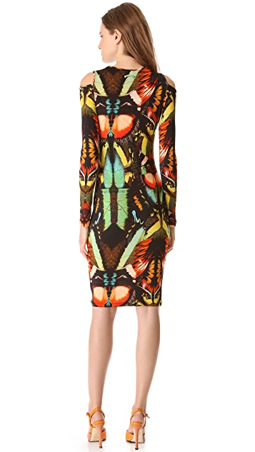 Jean Paul Gaultier Long Sleeve Print Dress