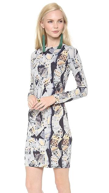 Jean Paul Gaultier Printed Long Sleeve Dress