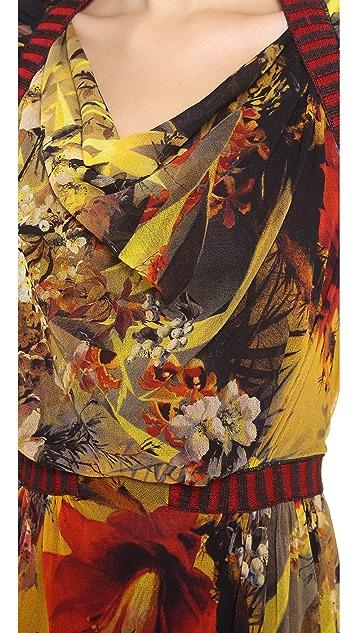 Jean Paul Gaultier Short Sleeve Printed Dress
