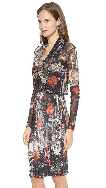 Jean Paul Gaultier Long Sleeve Printed Dress