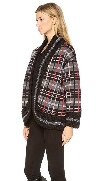 Jean Paul Gaultier Plaid Open Jacket