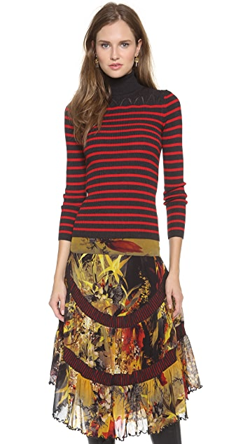 Jean Paul Gaultier Long Sleeve Turtleneck Sweater
