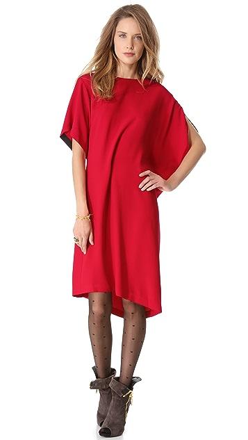 Jean Paul Gaultier Uneven Short Sleeve Dress