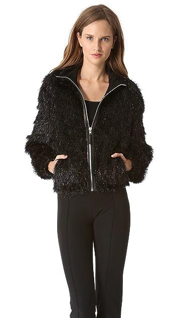 Jean Paul Gaultier Wool Tinsel Zip Jacket