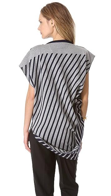Jean Paul Gaultier Short Sleeve Stripe Sweater