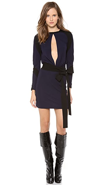 Jean Paul Gaultier Long Sleeve Keyhole Dress