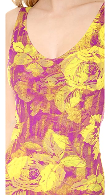 Jean Paul Gaultier Printed One Piece Swimsuit