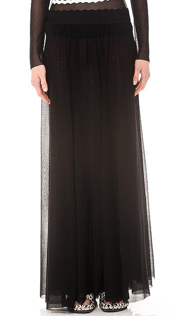 Jean Paul Gaultier Pleated Maxi Skirt