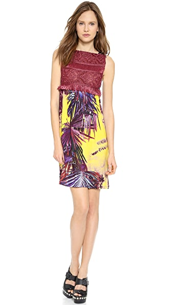 Jean Paul Gaultier Printed Raffia Dress