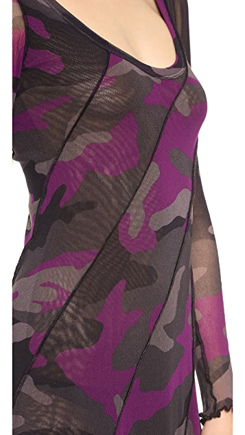 Jean Paul Gaultier Long Sleeve Camouflage Dress