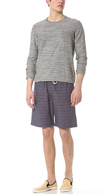 Jed & Marne Mulberry Beach Shorts