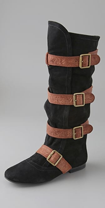 Jeffrey Campbell Woodsuede Slouch Flat Boots