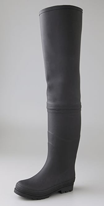 Jeffrey Campbell Wader Over the Knee Rubber Boots | SHOPBOP