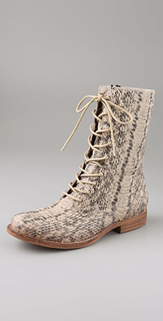 Jeffrey Campbell All Python Print Booties