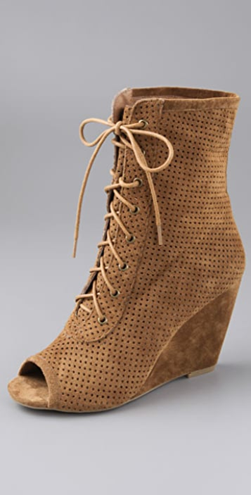 Jeffrey Campbell Syd Perforated Suede Booties