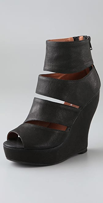 Jeffrey Campbell Tickle Open Toe Slashed Booties