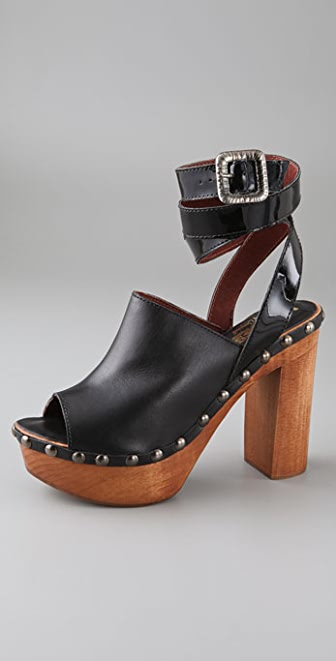 Jeffrey Campbell Stampede Open Toe Clogs