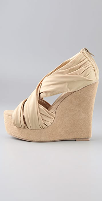 Jeffrey Campbell Take Draped Wedge Sandals