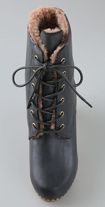 Jeffrey Campbell Erikson Shearling Clog Booties