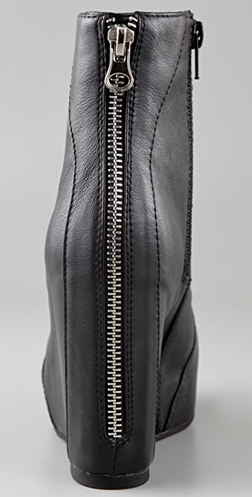 Jeffrey Campbell Pixie Zip Wedge Booties