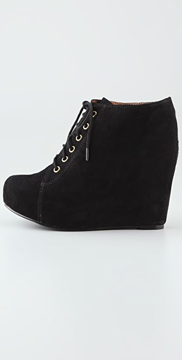 Jeffrey Campbell 99 Lace Up Wedge Booties