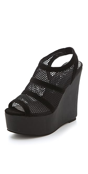 Jeffrey Campbell Mesh Wedges